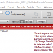 UPC EAN Filemaker Barcode Generator 16.12 full screenshot