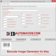Barcode Image Generator for Mac 2011 full screenshot