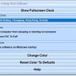 Full Screen Analog Clock Software 7.0 full screenshot