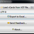 VCF to XLS Converter 1.0 full screenshot