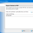 Export Outlook to PDF 4.12 full screenshot