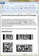 SmartCodeComponent2D Barcode 2.0 full screenshot
