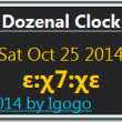 Dozenal Clock 1.6 full screenshot