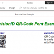 PrecisionID QR-Code Barcode Fonts 2018 full screenshot