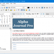 Alpha Journal Pro 6.0.3.0 full screenshot