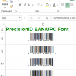 PrecisionID EAN UPC Fonts 2018 full screenshot
