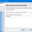 Backup Outlook and Exchange Folders 4.8 full screenshot
