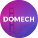 DOMECH Agency One Page PSD Template 32845 1 full screenshot