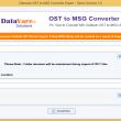 DataVare OST to MSG Converter Expert 1.0 full screenshot