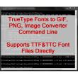 VeryUtils TTF to Image Command Line 2.3 full screenshot