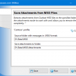 Save Attachments from MSG Files 4.10 full screenshot