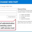 Password Change Web Part 2.0 full screenshot