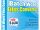 Batch Word File Converter 4.6.2.6 full screenshot