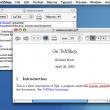 TeXShop for Mac OS X 4.58 full screenshot