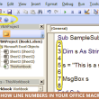 VBA Line Numbers with CodeLiner 2.0 full screenshot