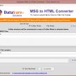Datavare MSG to HTML Converter 1.0 full screenshot