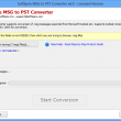 Move .msg files into PST 2.1.9 full screenshot