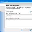 Import MBOX to Outlook 4.18 full screenshot